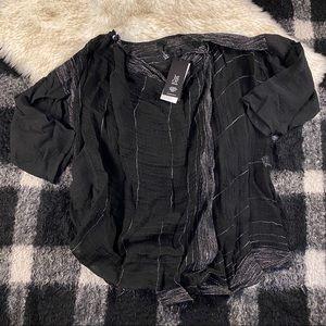 Igor dobranic Black wrap tunic brasilia linen sm